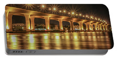 Bridge And Golden Water Portable Battery Charger by Tom Claud