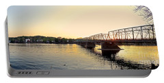 Bridge And New Hope At Sunset Portable Battery Charger
