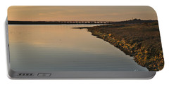 Bridge And Ria At Sunset In Quinta Do Lago Portable Battery Charger by Angelo DeVal