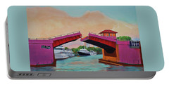 Portable Battery Charger featuring the painting Bridge At Se 3rd by Deborah Boyd