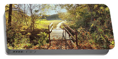 Bridge In Autumn Portable Battery Charger by Janette Boyd