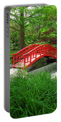 Portable Battery Charger featuring the photograph Bridge In The Woods by Rodney Campbell