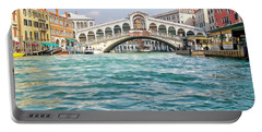 Portable Battery Charger featuring the photograph Bridge In Venice by Roberta Byram
