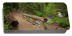 Bridge Near Bear Lake Trail Portable Battery Charger by John Roberts