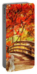 Bridge Of Fall Portable Battery Charger by Kristal Kraft