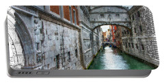 Portable Battery Charger featuring the photograph Bridge Of Sighs by Tom Cameron