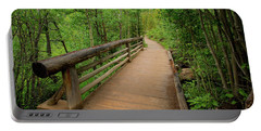 Bridge On Alberta Falls Trail Portable Battery Charger by John Roberts
