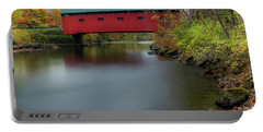 Bridge On The Green - Fall Version Portable Battery Charger
