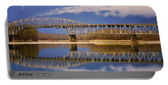 Portable Battery Charger featuring the photograph Bridge Over Calm Waters by Jordan Blackstone
