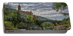 Portable Battery Charger featuring the photograph Bridge Over The Soca - Kanal Slovenia by Stuart Litoff