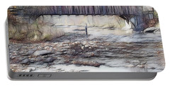 Portable Battery Charger featuring the photograph Bridge Over Troubled Waters by EricaMaxine  Price