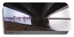 Portable Battery Charger featuring the photograph Bridge Over Wexford Harbour by Ian Middleton