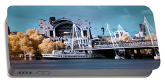 Portable Battery Charger featuring the photograph Bridge To Charing Cross by Helga Novelli