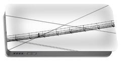 Portable Battery Charger featuring the photograph Bridge Walker by Joe Bonita