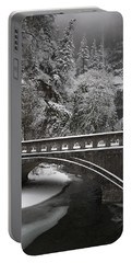 Bridges Of Multnomah Falls Portable Battery Charger by Wes and Dotty Weber