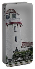 Brigantine Lighthouse Portable Battery Charger by Trish Tritz