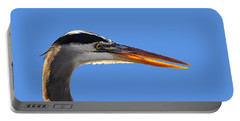 Portable Battery Charger featuring the photograph Bright Beak Blue .png by Al Powell Photography USA