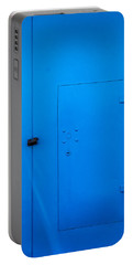 Bright Blue Locked Door And Padlock Portable Battery Charger