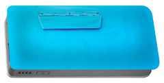Bright Blue Paint On Metal With Postbox Portable Battery Charger by John Williams