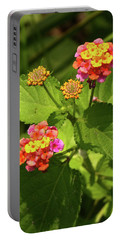 Bright Cluster Of Lantana Flowers Portable Battery Charger