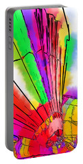 Portable Battery Charger featuring the digital art Bright Colored Balloons by Kirt Tisdale