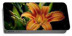 Bright Daylily Portable Battery Charger