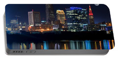 Bright Lights City Nights Portable Battery Charger by Frozen in Time Fine Art Photography