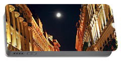 Bright Moon In Paris Portable Battery Charger