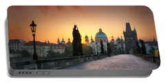 Bright Morning In Prague, Czech Republic Portable Battery Charger