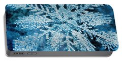 Bright Snowflake Portable Battery Charger by Kathy Bassett