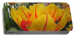 Bright Tulip Portable Battery Charger by MTBobbins Photography