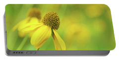 Bright Yellow Flower Portable Battery Charger by David Stasiak