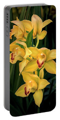 Bright Yellow Orchids Portable Battery Charger