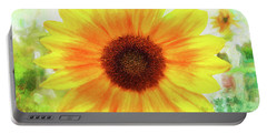 Bright Yellow Sunflower - Painted Summer Sunshine Portable Battery Charger