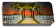 Portable Battery Charger featuring the photograph Brighton's Promenade Bandstand by Chris Lord
