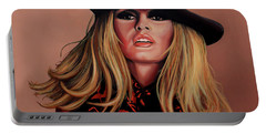 Brigitte Bardot Painting 1 Portable Battery Charger