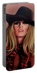 Brigitte Bardot Painting 1 Portable Battery Charger