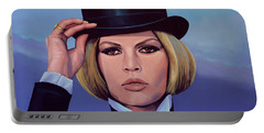 Brigitte Bardot Painting 2 Portable Battery Charger