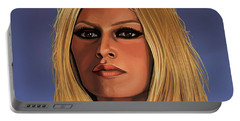 Brigitte Bardot Painting 3 Portable Battery Charger
