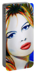 Brigitte Bardot Pop Art Portrait Portable Battery Charger