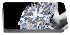 Brilliant Cut Diamond Portable Battery Charger