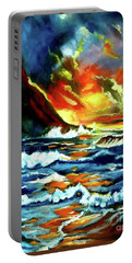 Brilliant Hawaiian Sunset Portable Battery Charger by Jenny Lee