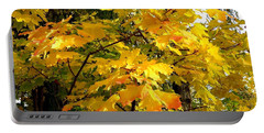 Portable Battery Charger featuring the photograph Brilliant Maple Leaves by Will Borden