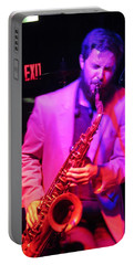 Portable Battery Charger featuring the photograph Bring Them .blues by Aaron Martens