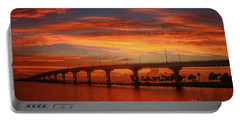 Bridge Sunrise Portable Battery Charger by Tom Claud