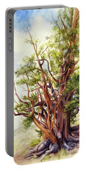 Portable Battery Charger featuring the painting Bristle Cone Pine by Bonnie Rinier