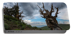 Bristlecone Pines Storm Clouds Portable Battery Charger by Scott Cunningham