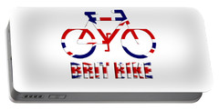 Brit Bike Portable Battery Charger by Roger Lighterness