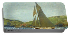 Portable Battery Charger featuring the painting Britannia by Henry Scott Tuke