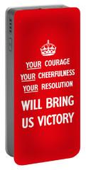British Ww2 Propaganda Portable Battery Charger
